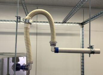 ドレンアップ専用配管を使うことで鳥居配管の施工時間が大幅に短縮!